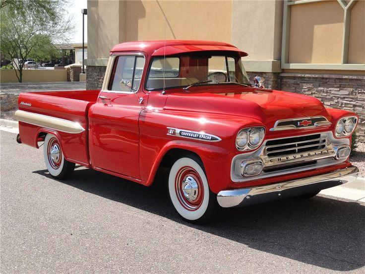 1959 CHEVROLET APACHE PICKUP - Side Profile - 108315 | Trucks-Chevy 55-59 | Pickup trucks ...
