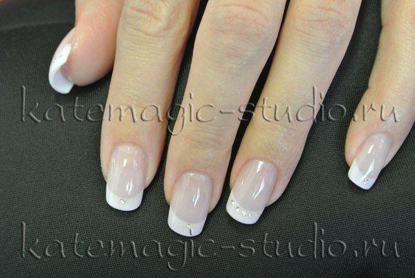 Маникюр, нейл-арт, укрепление своих ногтей, дизайн ногтей, рисунок на ногтях, shellac, шеллак, smoothing gel, смусинг, французский маникюр, фрэнч.  Студия KateMagic