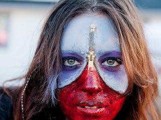 61 best Zipper Face images on Pinterest   Halloween makeup ...