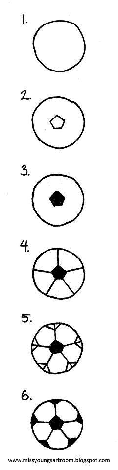 Wie zeichnet man noch mal nen Fussball? Hier ist es einfach erklärt. Weitere Ideen findest Du auf blog.balloonas.com  #balloonas #kindergeburtstag #fussball #soccer #party #vorlage #ball