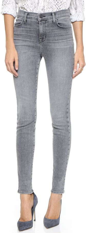 J Brand Maria High Rise Skinny Jeans at ShopStyle.