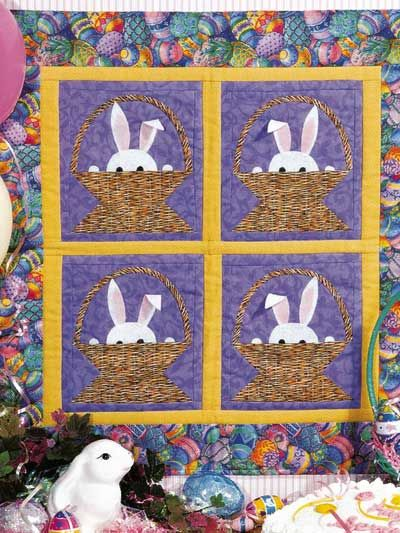 682 best creative quilting images on pinterest quilt patterns easter quilt wall hanging idea machine embroider the bunnies and scallop the edges of the negle Images