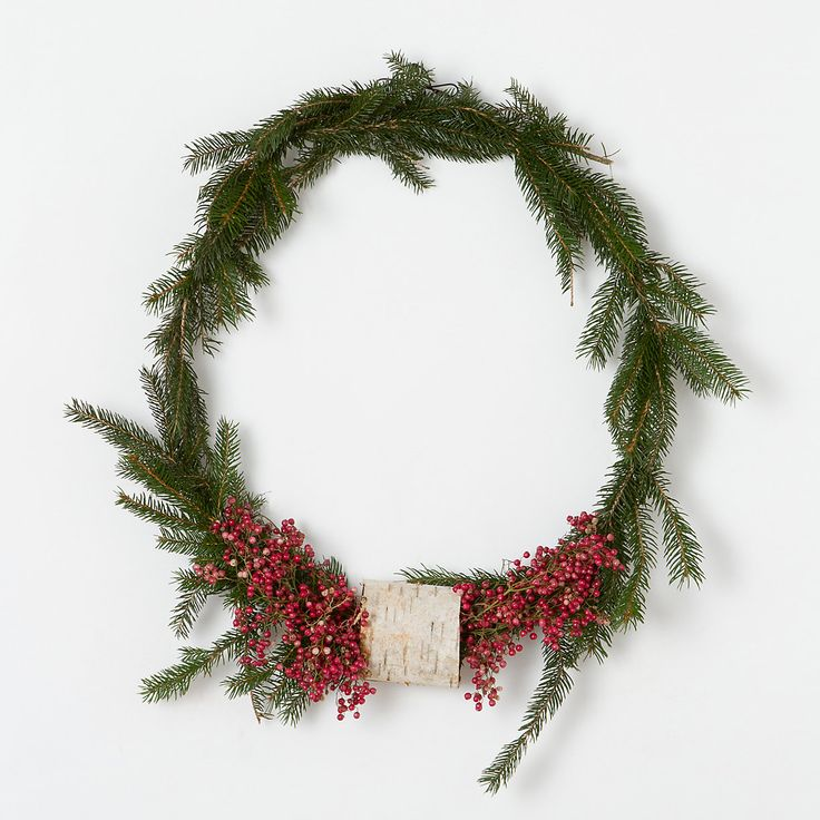 Terrain Pepperberry & Birch Wreath #shopterrain