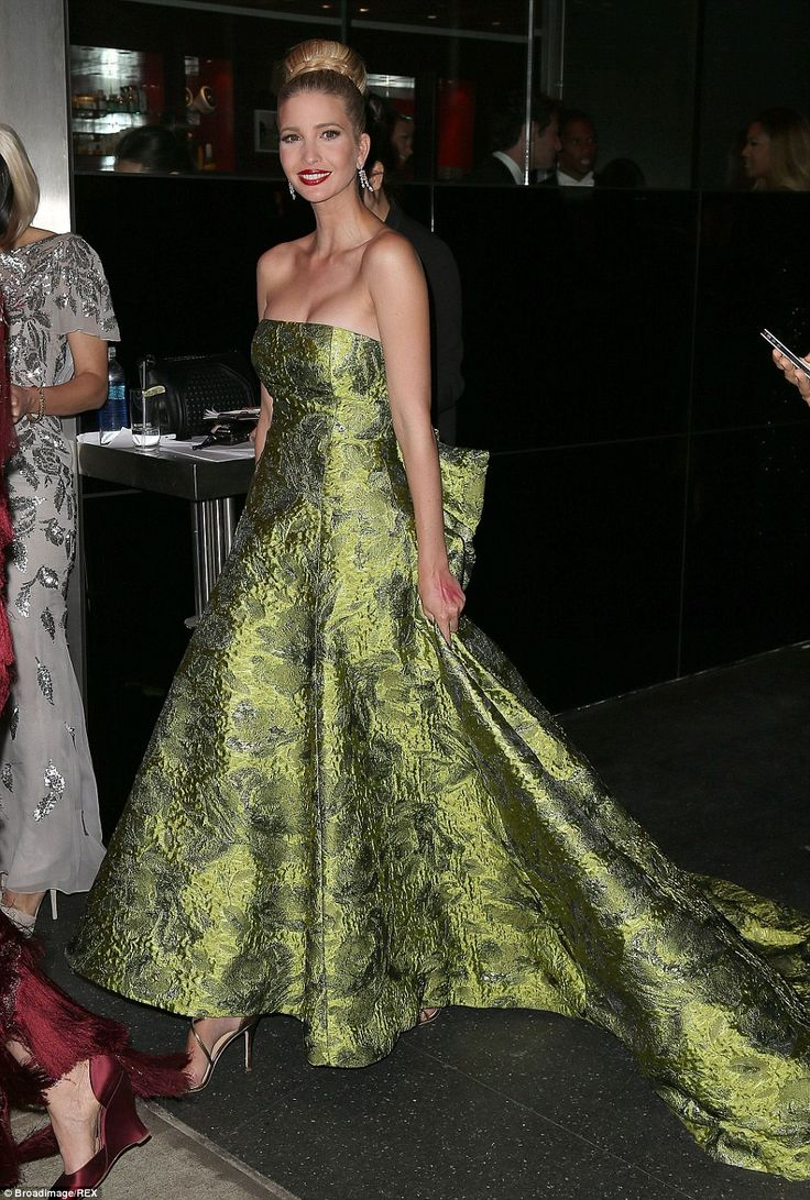 Praise: Ivanka Trump hailed the designer as an 'icon', pictured wearing one of his gowns a...