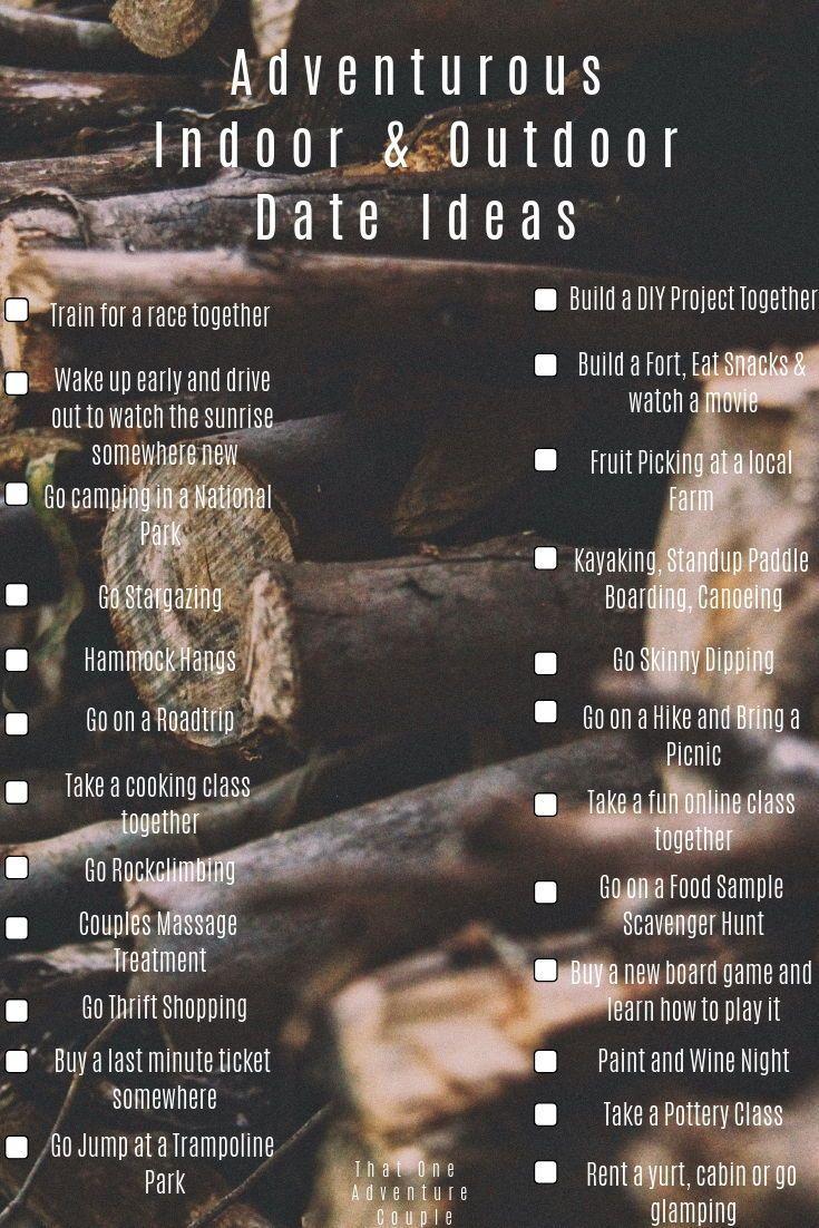 Best adventurous indoor and outdoor date ideas outdoor
