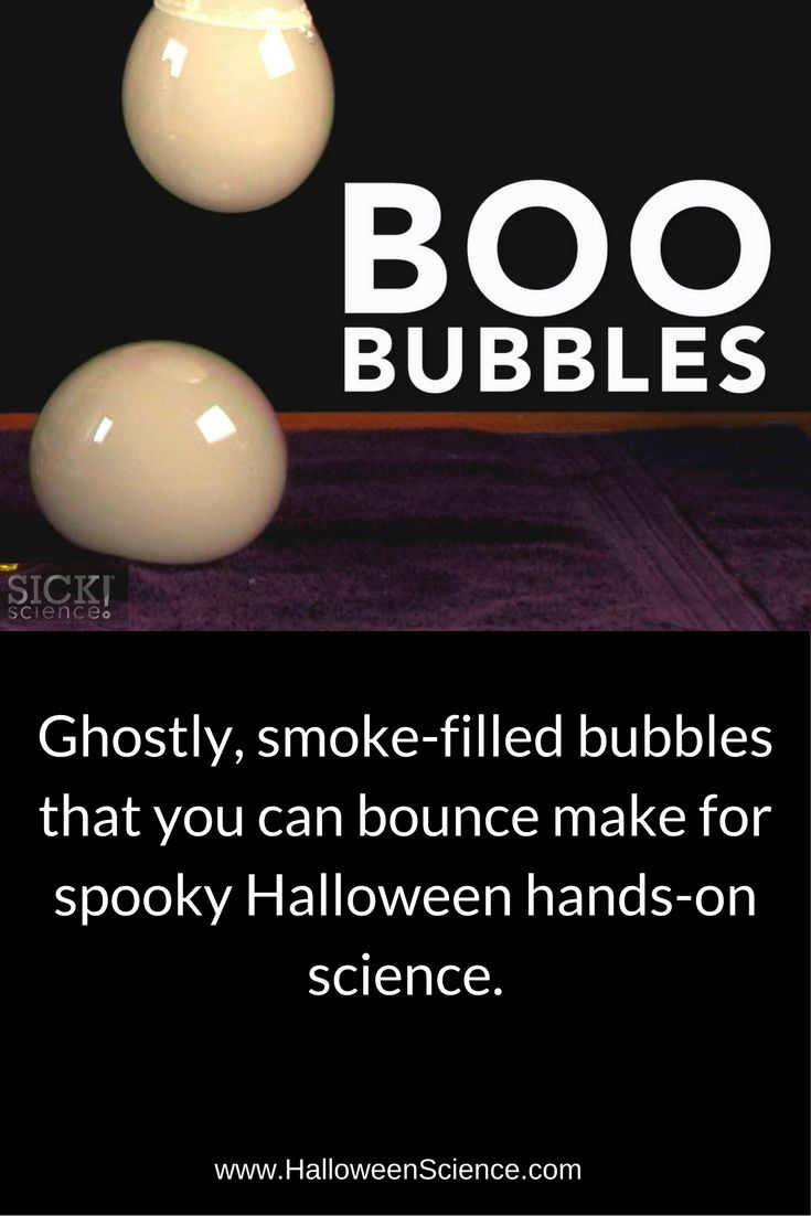 Bubbles are cool and bubbles filled with fog are even cooler! Steve Spangler created Boo Bubbles as an easy and safe way for parents and teachers to explore the science of dry ice with fog-filled bubbles.