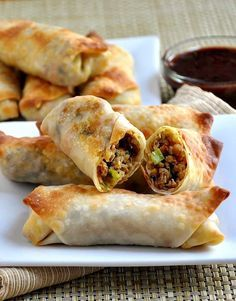 You don't need to get out your deep fryer to have crispy and delicious egg rolls - these Pork and Vegetable Crispy Baked Egg Rolls are easy to make, truly crispy and absolutely delicious. They're the perfect crowd pleasing appetizer!