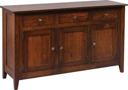 You'll save on every piece of furniture at Amish Outlet Store! We custom make every item, and you can get the Settler's Ridge Buffet in Oak with any wood and stain.