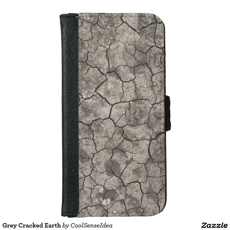 Grey Cracked Earth iPhone 6/6s Wallet Case