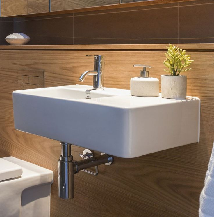 Caroma Cube Extension Wall Basin 864215W - Hardware & General