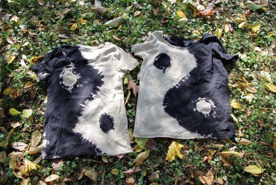 Yin Yang Tie Dye Ladies Tee Reverse Dye  MADE TO ORDER