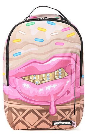 Sprayground   The Cupcake Mafia x Sprayground Ice Cream Grillz Backpack in Pink