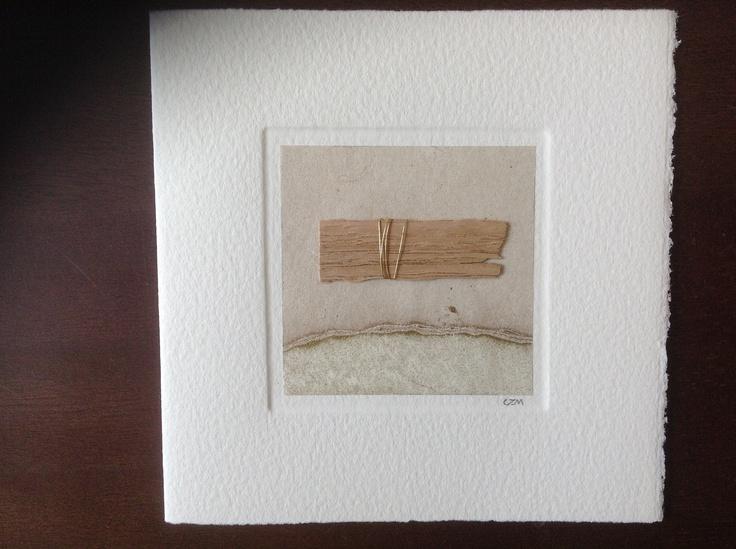 MISU card design   gold thread oak