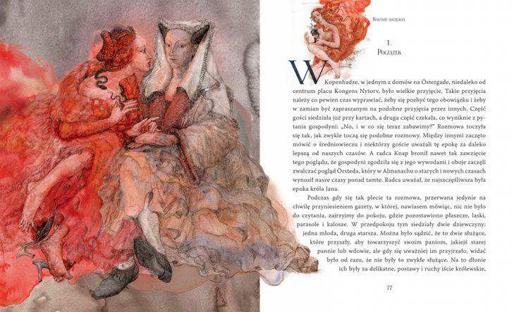"""Hans Christian Anderson Tales"", illustrated by Maja Chmura."