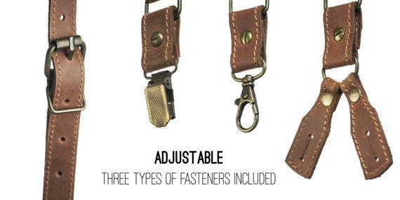 Personalized leather suspenders leather suspenders by CorsacStore