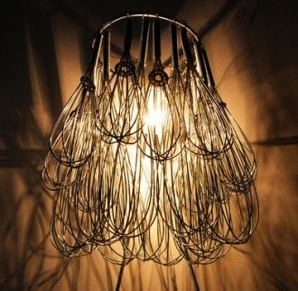 Wire Whisk Chandelier. This may be purchased on ecofirstart.com