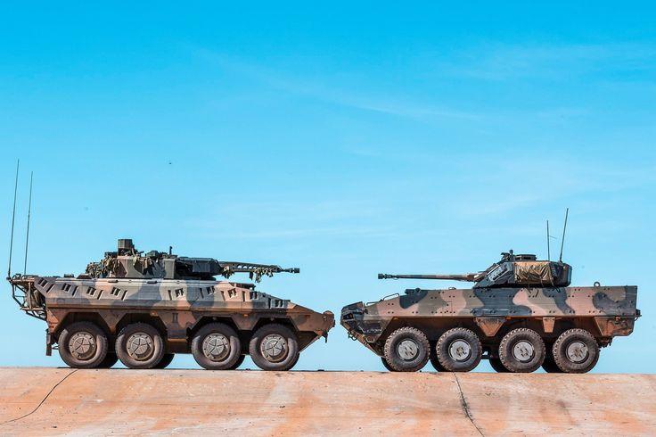Contenders for Australias new AFV: Rheinmetall Boxer CRV (left) and the BAE Systems Patria AMV35 [2048  1365]