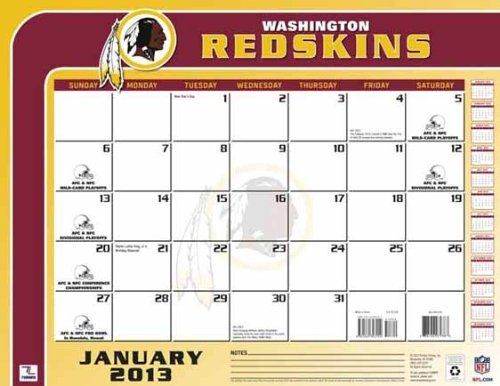 Perfect Timing - Turner 2013 Washington Redskins Desk Calendar, 22 x 17 Inches (8061260) by Perfect Timing - Turner. $13.88. This large-scale calendar is perfect for any desk. Ample space for notes and doodles, the team desk calendar will help keep you on schedule and up to date.