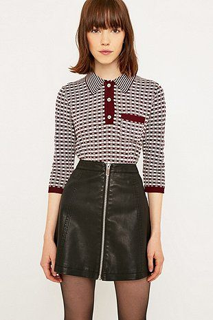 Urban Outfitters Textured Polo Shirt - Urban Outfitters