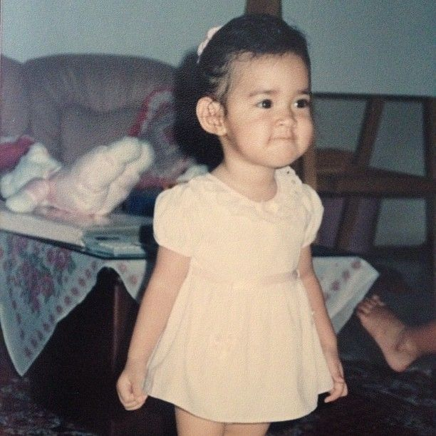 when she was a child