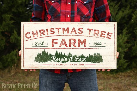 Christmas Tree Farm Sign Wood Holiday Sign Rustic Art
