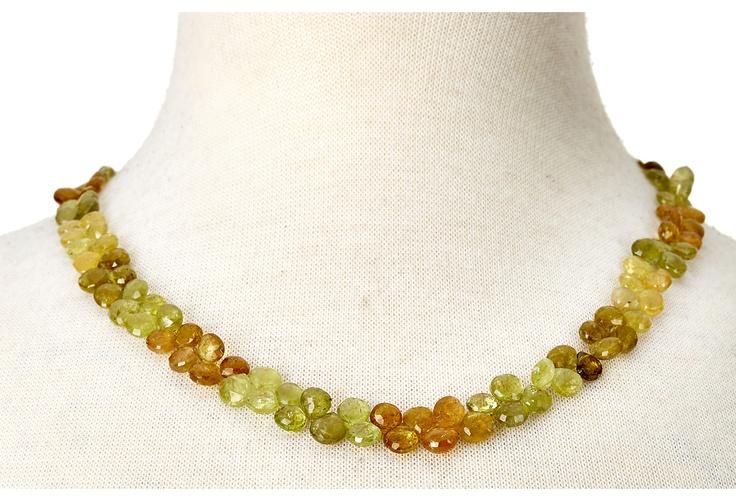 One Kings Lane - Cygnet et Cie - Green Garnet Necklace