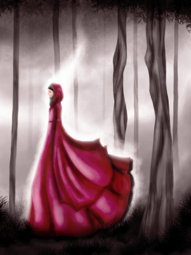 Hijabi in Wonderland Red Dress #beautiful