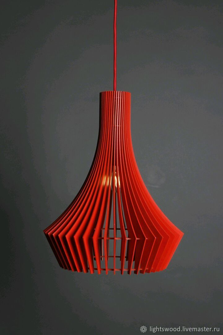 Lamp made of plywood DECANTER