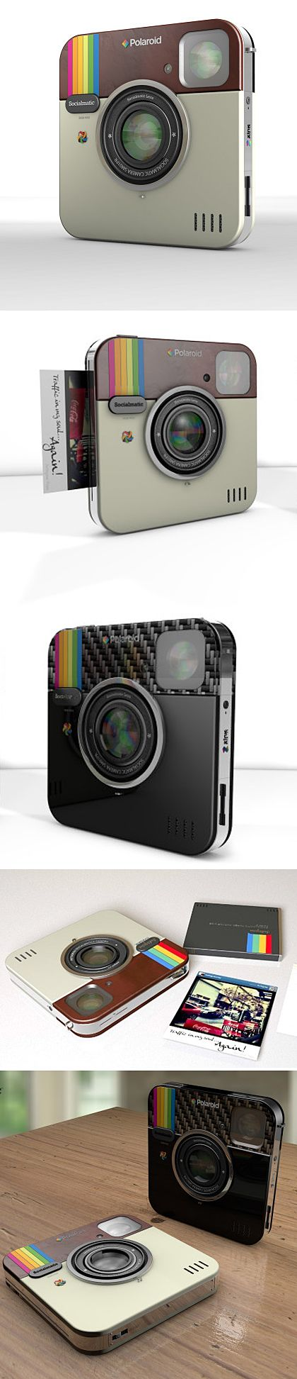 """Socialmatic : Cool Instagram-Inspired Camera"" ---- I'm sorry, but no. Instagram's logo is from the Rainbow edition poloroids. not the other way around... this new camera might be designed after the insta logo, but it's a rainbow. Still cool, though."