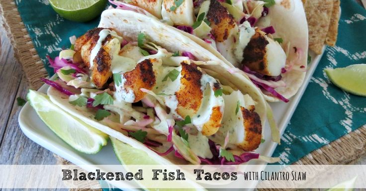 I am slightly addicted to fish tacos but don't like the way that so many places fry the fish. Blackening the fish gives these fish tacos so much flavor!