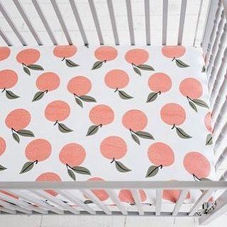 NEW Organic Cotton Peach Crib Sheets!  spearmintLOVE.com
