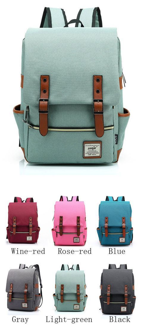 Vintage Travel Backpack Leisure Canvas With Leather Backpack&Schoolbag only…