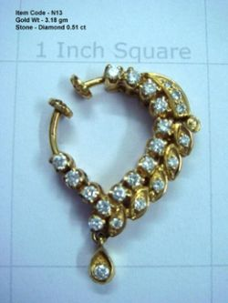 diamond nose ring