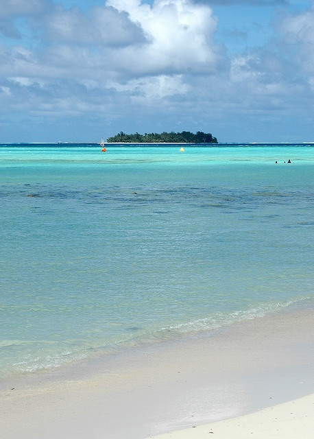 i once swam to that tiny island (Managaha). nearly drowned halfway there because a turtle was trying to bite my foot off.