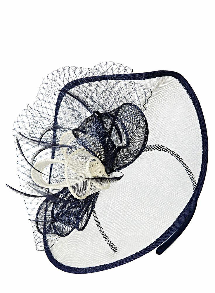 Blue/White Folded Bow Disc Fascinator http://www.weddingheart.co.uk/bhs--mother-of-the-bride.html