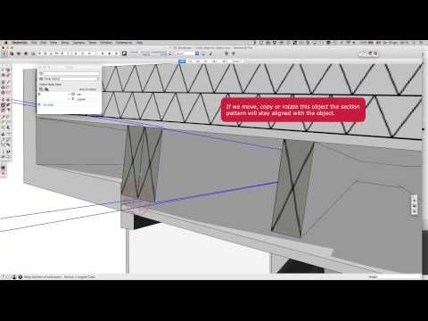 how to make patterns turn in sketchup