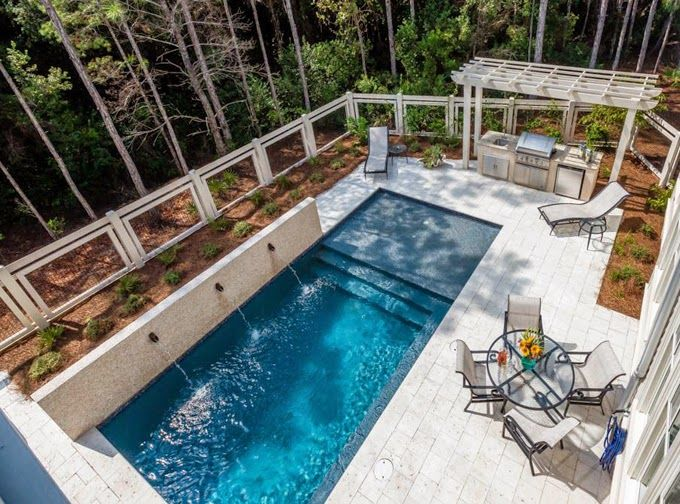 beautiful pool in a beautiful setting house of turquoise high cotton watercolor florida