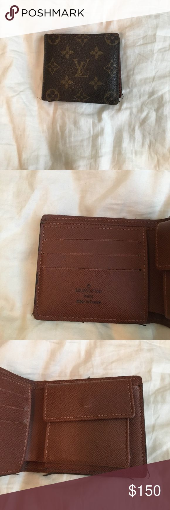 Original Louis Vuitton Wallet Used / Original Design/ 3 Card Slots / Coin pouch / TAKING OFFERS / quality replica Louis Vuitton Accessories