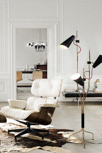 FEATURED Top 50 Modern Floor Lamps Delightfull Coltrane Lamp Interiordesign Floorlamps See More