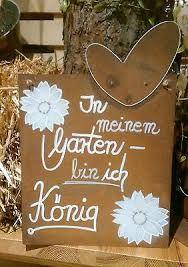 Superb Edelrost Tafel K nig Spruch Garten Metall Tafel Rost Schild Text Blume Deko