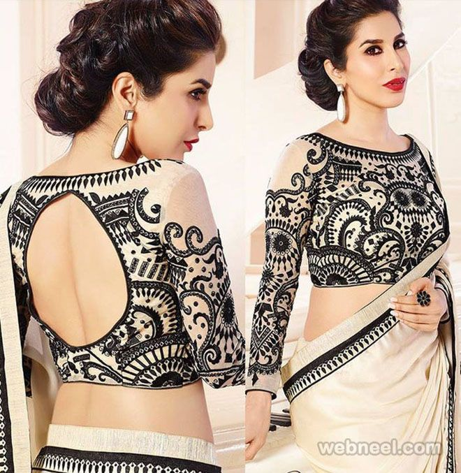 50 Different types of Blouse Designs Patterns - Designer Saree Blouses. Read full article: http://webneel.com/blouse-designs-patterns-designer-blouses | Follow us www.pinterest.com/webneel