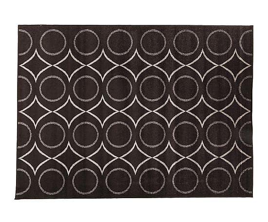 Alfombra de polipropileno Fusion, blanco y negro - 160x220 cm