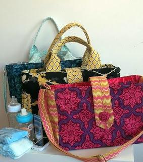 Kočárotašky ve třech velikostech / Stroller (Diaper) bags - sizes M, L and XL
