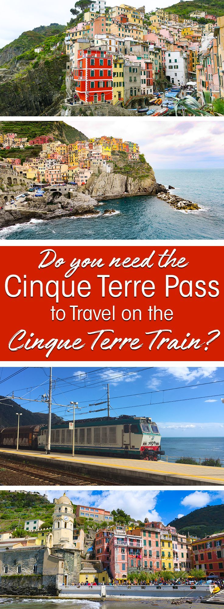 Do you plan to visit the popular 5 villages that make up the Cinque Terre in Italy? But how can you travel on the Cinque Terre train and what is the Cinque Terre Pass? I explain how to use the Cinque Terre Card to travel by train to the Cinque Terre train stations in this ultimate guide for Cinque Terre Train Travel #italy #cinqueterre #train