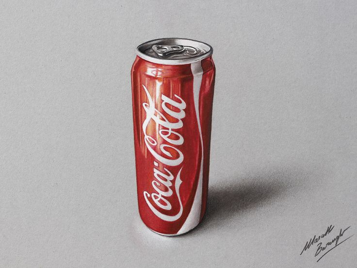 Watch on YouTube how I draw this coca-cola can http://youtu.be/E44GmpxhX_k #cocacola #marcellobarenghi