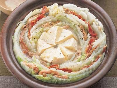 [白菜と豚肉のチーズ鍋] 料理レシピ|みんなのきょうの料理