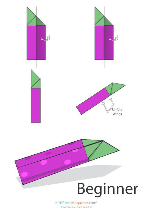 Paper Airplane Instructions – Simple Beginner | Paper ...