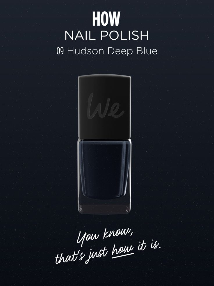 HOW | Nail Polish in Hudson Deep Blue  Discover more on http://wemakeup.it/#HOW_nail_polish