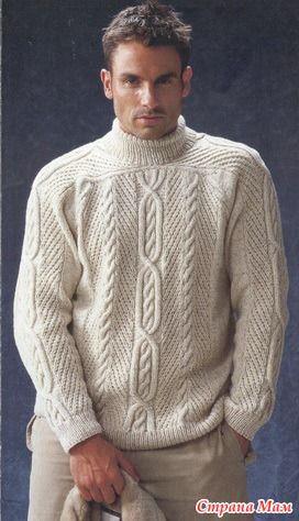 Мужской свитер с аранами (Herbst/Winter 2002/2003) - Вязание - Страна Мам