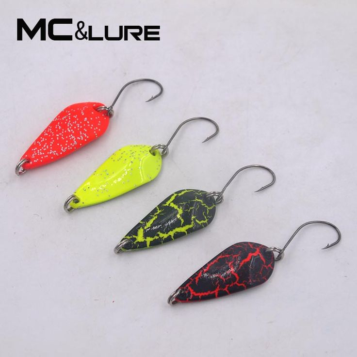 MC&LURE 2PCS 3.5g/32mm  Fishing Lure Copper Spoon  Metal Lures Hard Baits MOMO Spoon TWO  Colours Isca Artificial Trout Lure